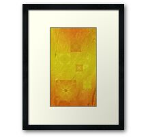 Mysterious solar flowers Framed Print