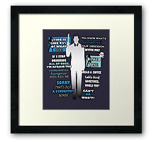 Archer Sterling Framed Print