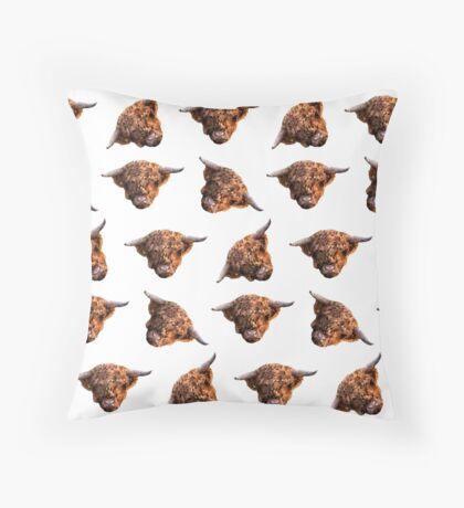 Highland Cows Throw Pillow