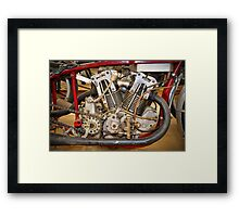 Burt Munro Special Indian Scout Engine Framed Print