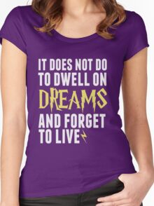 Albus Dumbledore - Dwell on Dreams Women's Fitted Scoop T-Shirt