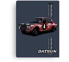 Datsun Bluebird 1600SSS 1970  P510 - Stripe Canvas Print