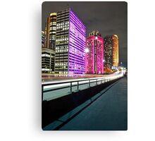 City Skyline 5 Vivid 2016 Canvas Print