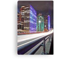 City Skyline 6 Vivid 2016 Canvas Print