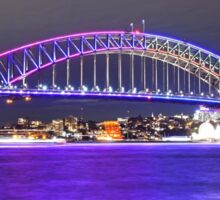 Harbour Bridge 4 Vivid 2016 Sticker