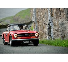 The Three Castles Welsh Trial 2014 - triumph TR 6 Photographic Print