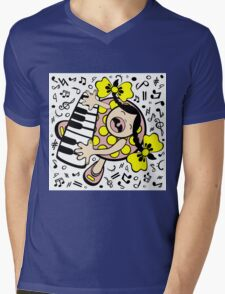 piano baby Mens V-Neck T-Shirt