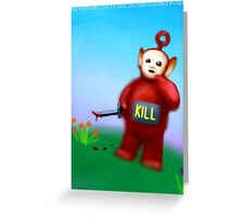 You have fallen, it is okay, you have a loaded shotgun. Greeting Card