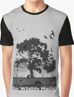 Our Wildlife Matters - Support Native Animal Rescue Graphic T-Shirt