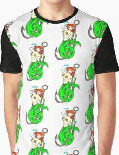 redheaded green-tail mermaid Graphic T-Shirt
