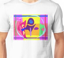 Free Colorful Digital Abstract Painting Unisex T-Shirt
