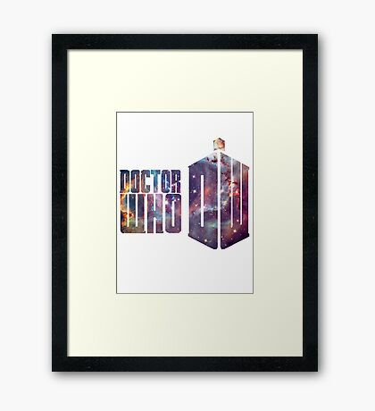 tardis galaxy Framed Print