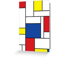 Mondrian Minimalist De Stijl Art Greeting Card