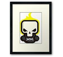 Mr Ghost skull Framed Print