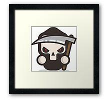 Mr Death skull Halloween Framed Print