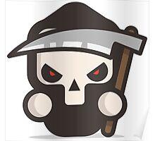 Mr Death skull Halloween Poster