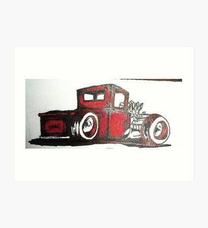rat rod pick up truck Art Print
