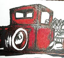 rat rod pick up truck by Nathanial Lairmore