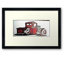 rat rod pick up truck Framed Print