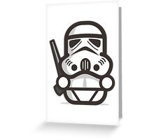 Mr Trooper Robot Greeting Card