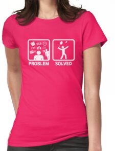 Funny Badminton Problem Solved Womens Fitted T-Shirt