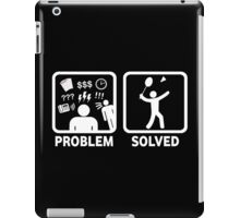 Funny Badminton Problem Solved iPad Case/Skin