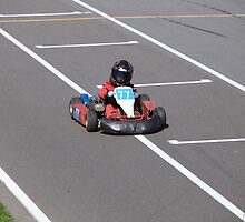 young Go-Carting  Racer finish by mrivserg