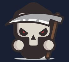 Mr Death skull Halloween Kids Tee