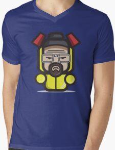 Mr White Mens V-Neck T-Shirt