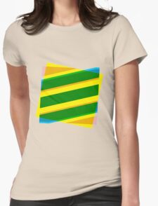 Abstract stripe Womens Fitted T-Shirt