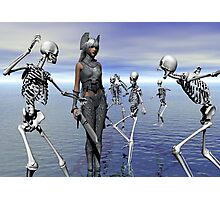 SKELETONS AT WAR Photographic Print