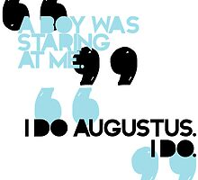 The Fault In Our Stars Augustus Waters First and Last Mention by dragonlxrd