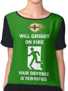 Will Grigg on Fire Chiffon Top