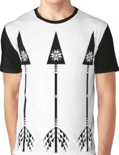 Arrows - White Graphic T-Shirt