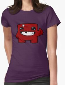 Super Meat Boy Womens Fitted T-Shirt
