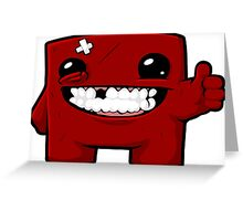 Super Meat Boy Greeting Card