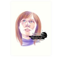 Never forget Donna Noble_white Art Print