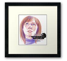 Never forget Donna Noble_white Framed Print