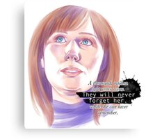 Never forget Donna Noble_white Canvas Print