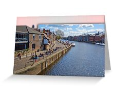 Kings Staith York river Ouse Greeting Card