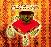 What my #Coffee says to me -  August 6, 2012 Pillow by catsinthebag