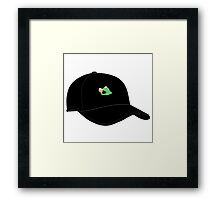 LEBRON JAMES KERMIT SIPPING TEA CAP Framed Print