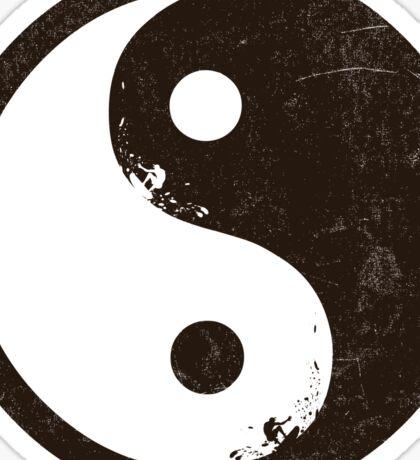 yin yang surfer 2 Sticker