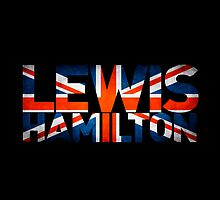 Lewis Hamilton - British Flag by FormulaFans