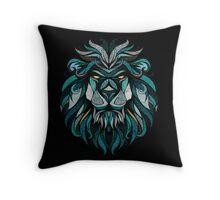 Lion Deep Totem Throw Pillow
