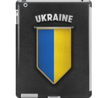 Ukraine Pennant with high quality leather look iPad Case/Skin