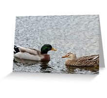 Duck Date Greeting Card