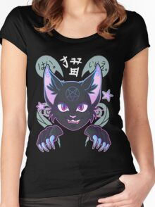 Spooky Cat Women's Fitted Scoop T-Shirt