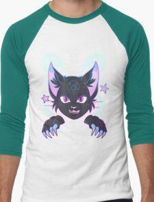 Spooky Cat Men's Baseball ¾ T-Shirt