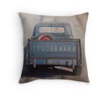 Studebaker Blue Throw Pillow